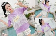 紫色t恤+白色短裤,夏季要这么穿才好看!