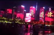 """史上最硬核""""应援"""",深圳湾面向香港亮五星红旗巨幕,一江之隔感动无比"""