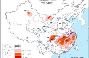四川盆地黄淮等地有较强降雨 南方地区高温天气持续