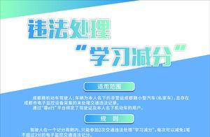 """简阳驾驶人可在手机上实现""""学习减分""""啦"""