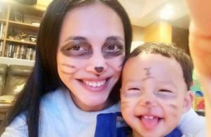 小土豆六周岁,姚晨晒儿子成长照为他庆生:眨眼就能搂住妈妈的腰
