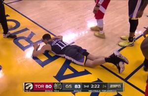 猛龙夺冠成功!库里坐在地上久久不肯起来,怒砸篮球发泄