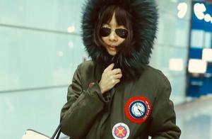 迷之视角!陈鲁豫戴超大毛绒帽花式取暖 包裹严实难挡清秀面容