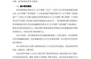 套现!泰禾近40亿元转让多个项目股权予世茂!涉及广佛院子项目