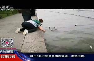 过分!有人带着网兜要来西湖捞鸳鸯,甚至不顾劝阻伸手就要去抓
