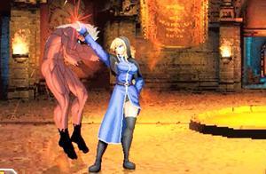 拳皇:招式霸道的斋祀遭遇实力更强的高尼茨之女,斋祀迅速溃败