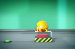 小鸡jaki发现一个神秘的按钮,不停地按,结果出发了火箭开关