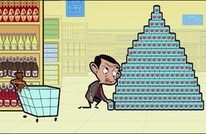 憨豆先生:豆豆去超市买吃的,却推了一辆坏的购物车。看他怎么办