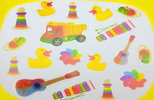 学习整理自己的玩具,卡车乐器和风车