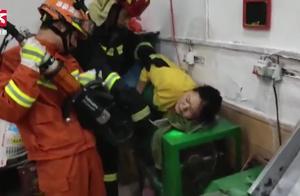 女子搅面时手腕不慎被卡机器无法动弹,消防拆机救援
