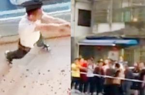 浙江发生持刀伤人案致1死5伤 警方开枪制服嫌疑人 现场画面曝光