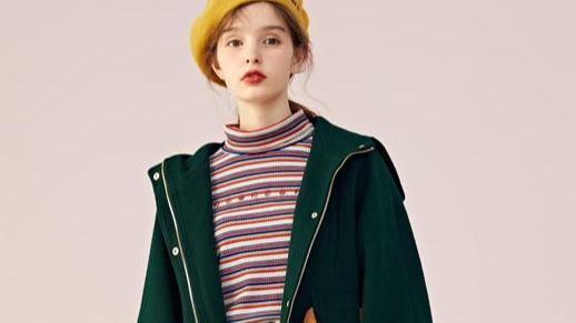 墨绿色的韩版风衣如何搭配