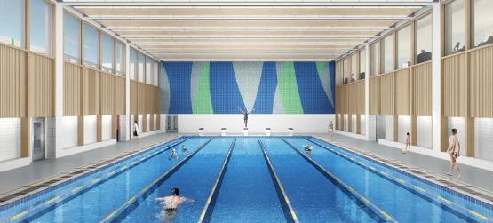 成都天立學校室內恒溫泳池