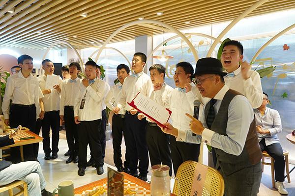 【工程检测员技能培训费用】96岁指挥家曹鹏带着熊爪咖啡店员来到忘不了餐厅