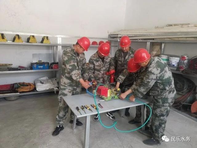 民乐县双树寺水电站组织职工业务技能培训
