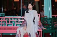 秦岚油画仙女裙现身活动,漫步深秋时节尽显优雅气质