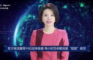 """AI合成主播丨双子座流星雨14日迎来极盛 每小时百余颗流星""""绽放""""夜空"""
