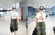 """江一燕机场现身直接穿""""丐帮长老""""裙,看这口袋应该职位不低"""