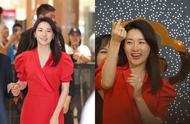 抗衰老只服李英爱!红色礼服裙配珍珠项链,48岁状态好到爆炸