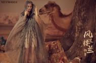 杨幂现身杂志封面,一袭纱裙秀曼妙身材,大展沙漠异域风情