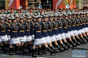 俄罗斯红场阅兵:女兵首入仪仗队 80%武器有实战经验