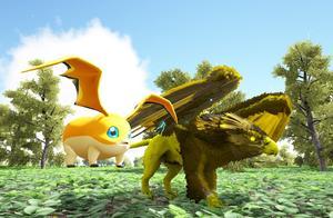 妖月 方舟生存进化 盖亚恐惧11 进化数码宝贝巴达兽 驯服闪电狮鹫